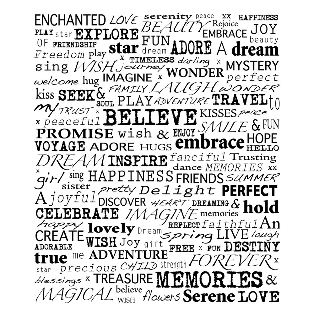 Crafty Individuals Ci 258 Uplifting Words Art Rubber