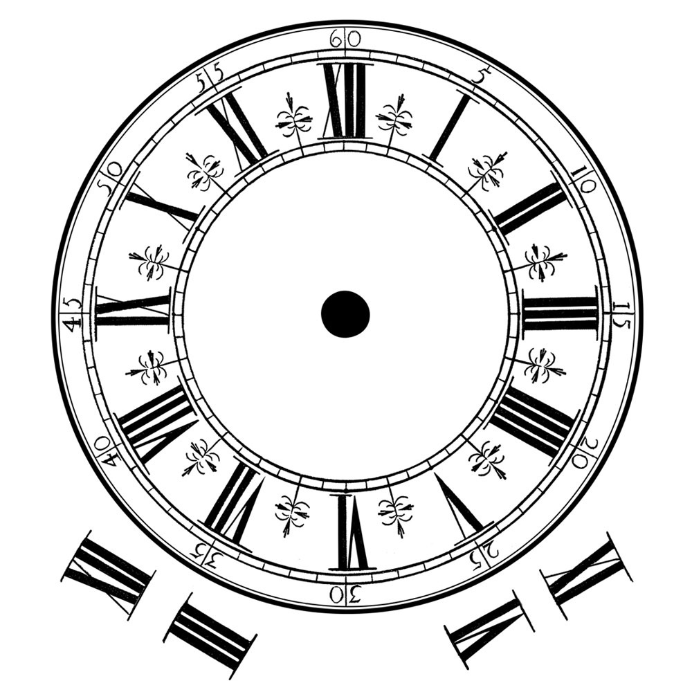 crafty individuals ci 354 roman numerals clock face art rubber