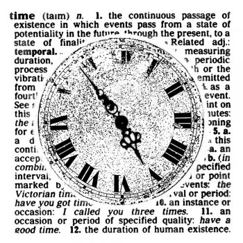 Crafty Individuals CI-035 - 'Faded Time' Art Rubber Stamp, 65mm x 68mm