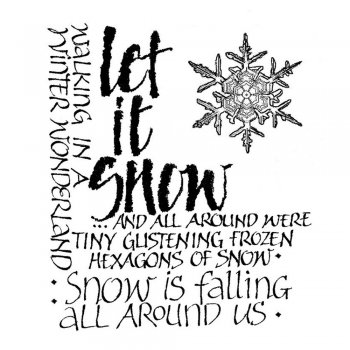 Crafty Individuals CI-138 - 'Let it Snow Calligraphy' Art Rubber Stamp, 55mm x 65mm
