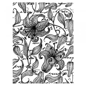 Crafty Individuals CI-149 - 'Lily Background' Art Rubber Stamp, 75mm x 100mm