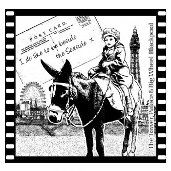 Crafty Individuals CI-158 - 'Seaside Donkey Rides' Art Rubber Stamp, 75mm x 72mm