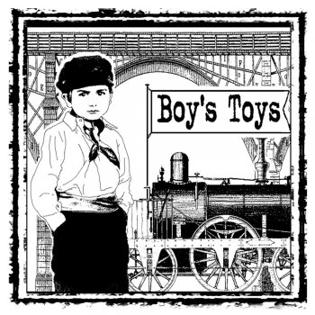 Crafty Individuals CI-159 - 'Boy's Toys' Art Rubber Stamp, 85mm x 85mm