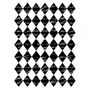 CI-171 - 'Harlequin Script Background' Art Rubber Stamp, 65mm x 85mm