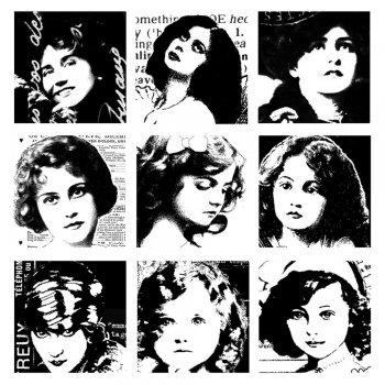 CI-174 - 'La Femme Inchie Ladies' Art Rubber Stamp, 85mm x 85mm