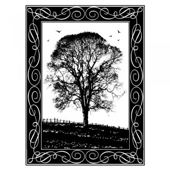 Crafty Individuals CI-181 - 'Winter Tree' Art Rubber Stamp, 67mm x 90mm