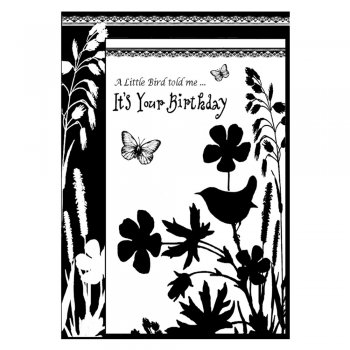 Crafty Individuals CI-192 - 'Its Your Birthday' Art Rubber Stamp, 65mm x 92mm