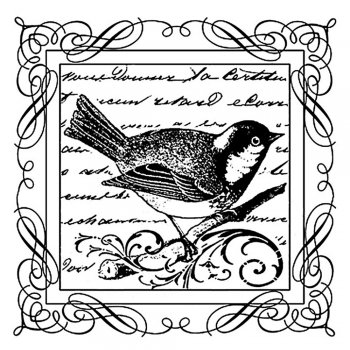 Crafty Individuals CI-200 - 'Little Blue Bird' Art Rubber Stamp, 70mm x 70mm
