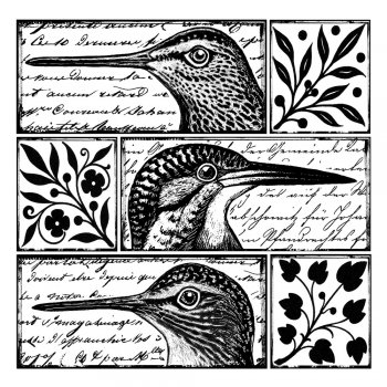 Crafty Individuals CI-265 - 'Quirky Birds' Art Rubber Stamp, 80mm x 80mm