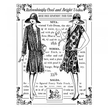 Crafty Individuals CI-324 - 'Bright Voile Ladies' Art Rubber Stamp, 75mm x 95mm