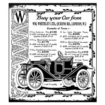 Crafty Individuals CI-325 - 'Vintage Vehicle' Art Rubber Stamp, 82mm x 92mm