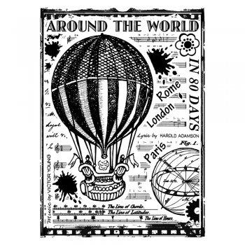 Crafty Individuals CI-336 - 'Around the World' Art Rubber Stamp, 67mm x 90mm