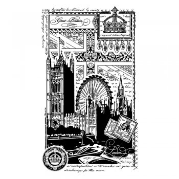 Crafty Individuals CI-343 - 'Patriotic London' Art Rubber Stamp, 59mm x 100mm