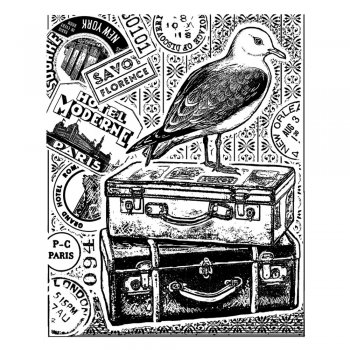 Crafty Individuals CI-344 - 'Seagull Adventure' Art Rubber Stamp, 70mm x 85mm