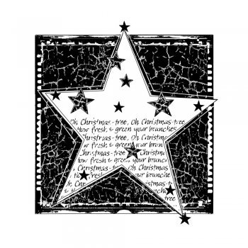 Crafty Individuals CI-363 - 'Christmas Tree Star' Art Rubber Stamp, 66mm x 70mm