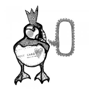 CI-376 - 'Party Puffin' Art Rubber Stamp, 78mm x 98mm