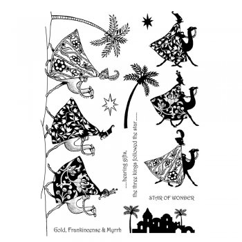 Crafty Individuals CI-270 - 'Three Kings of Christmas' Art Rubber Stamps, 96mm x 137mm