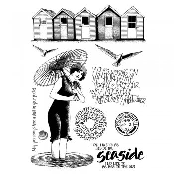Crafty Individuals CI-278 - 'Beside the Seaside' Art Rubber Stamps, 96mm x 137mm