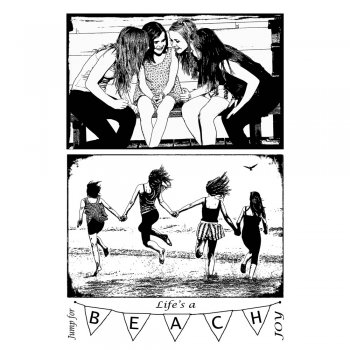 Crafty Individuals CI-284 - 'Life's a Beach Girlfriends' Art Rubber Stamps, 96mm x 137mm