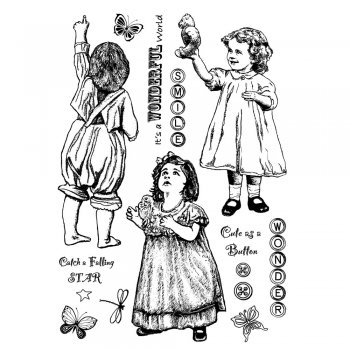 Crafty Individuals CI-292 - 'Wonder of Childhood' Art Rubber Stamps, 96mm x 137mm