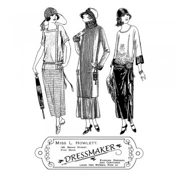 Crafty Individuals CI-322 - 'The Dressmaker' Art Rubber Stamps, 96mm x 137mm