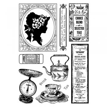 Crafty Individuals CI-340 - 'A Lady's Kitchen' Art Rubber Stamps, 96mm x 137mm