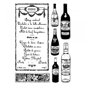 Crafty Individuals CI-348 - 'Fine Wine Lovers' Art Rubber Stamps, 96mm x 137mm