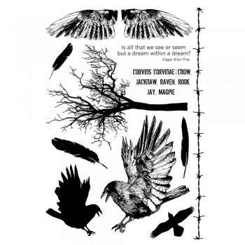 Crafty Individuals CI-361 - 'The Crow Plate' Art Rubber Stamps, 96mm x 137mm