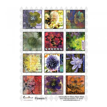 Crafty Individuals A4 Glossy Sheet - 'Flowers 1'