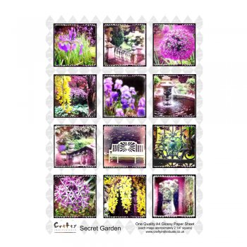 Crafty Individuals A4 Glossy Sheet - 'Secret Garden 1'