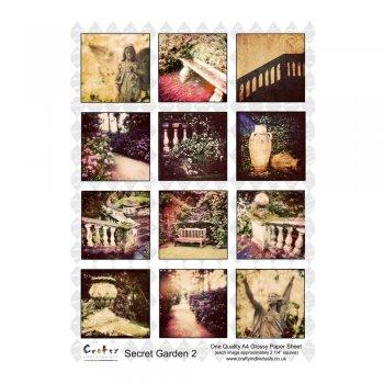Crafty Individuals A4 Glossy Sheet - 'Secret Garden 2'