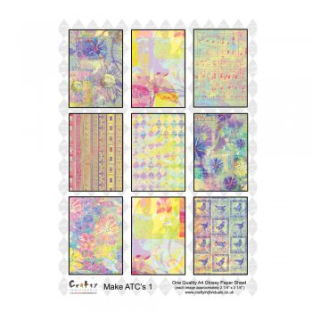 Crafty Individuals A4 Glossy Sheet - 'ATC 1'