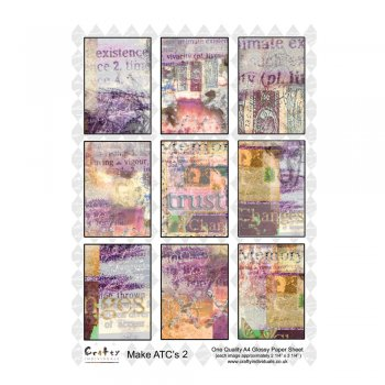Crafty Individuals A4 Glossy Sheet - 'ATC 2'