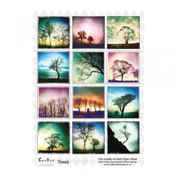 Crafty Individuals A4 Matt Sheet - 'Trees'
