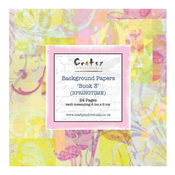 Crafty Individuals Background Paper Book - 'Book 3, Springtime'