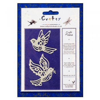 Crafty Individuals Craft Masks - 'Sweet Flying Birds' Masks (x 2 designs per pack), up to 55mm x 65mm approx