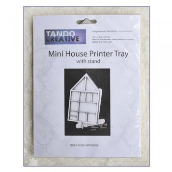 Tando Creative Must Haves - Tando 'Mini House Printer Tray with stand', 112mm x 175mm