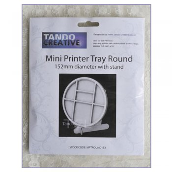 Tando Creative Must Haves - Tando 'Round Printer Tray with stand', 152mm diameter