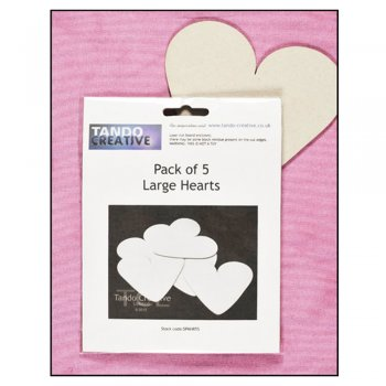 Must Haves - Tando 'Large Hearts (pack of 5)' 120mm x 120mm