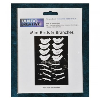 Must Haves - Tando 'Mini Birds & Branches' 40mm x 25mm each approximately