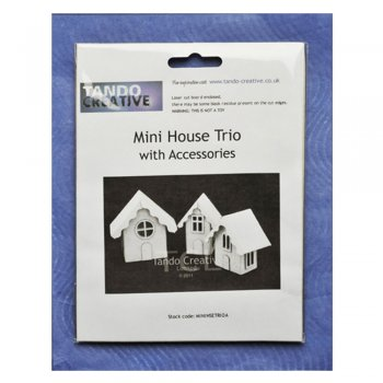 Tando Creative Must Haves - Tando 'Mini House Trio' 60mm x 60mm each approximately