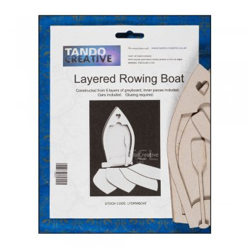 Tando Creative Must Haves - Tando 'Layered Rowing Boat' (with oars), 95mm x 175mm