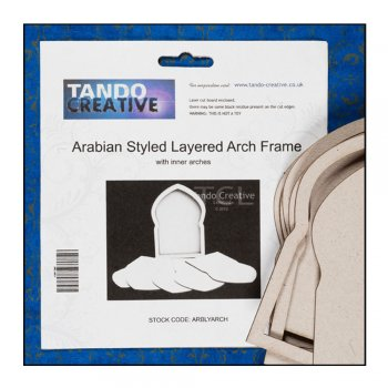 Tando Creative Must Haves - Tando 'Arabian Styled Layered Arch Frame', 105mm x 145mm