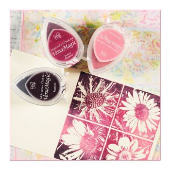 Tsukineko Must Haves - 'VersaMagic, Set of 3 Dew Drop Ink Pads - Pinks'