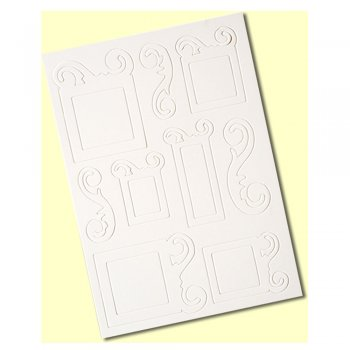 Crafty Individuals A4 Die Cut Chipboard Sheet - 'Swirl Frames'