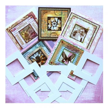 Crafty Individuals Die Cut Frames - '12 Square Frames', 78mm, 42mm aperture