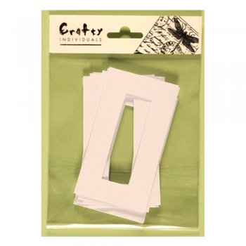 Crafty Individuals Die Cut Frames - '12 Microscope Slide Size Frames', 60mm x 107mm