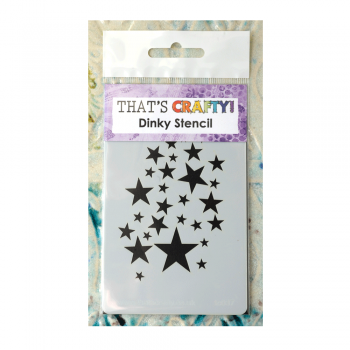 That's Crafty Must Haves - 'Dinky Stencil, Star Shower', 75mm x 120mm