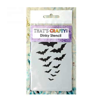 That's Crafty Must Haves - 'Dinky Stencil, Flight of the Bats', 75mm x 120mm