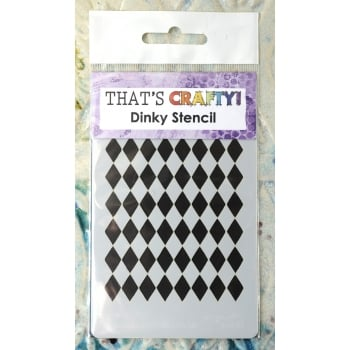 That's Crafty Must Haves - 'Dinky Stencil, Harlequin', 75mm x 120mm